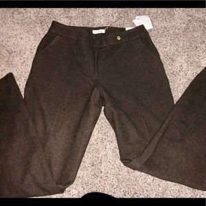 Calvin Klein Lined Brown Slacks size 10